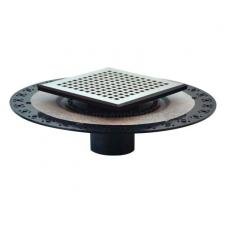 ABS Flang Drain Base with 304 stainless steel  drain Grate - UGSD004