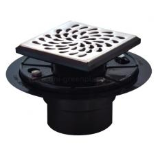 Drip style drain grate with ABS shower drain base - UGSD008-Drip