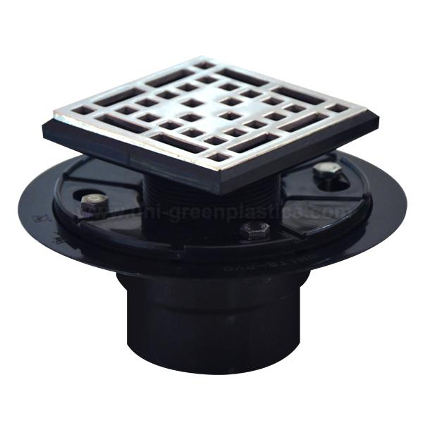 Bless style drain grate with ABS shower drain base » UGSD008-Bless