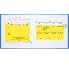 8 Mil Waterproofing Membrane 85sq.ft For 48'' by 48'' Shower Walls And Bathrrom Walls - UGWM008