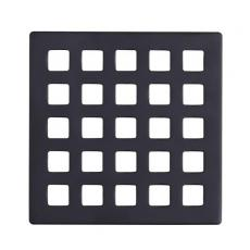 Square Matte Black SUS304 Shower Drain Plate 4mm Thickness - UGDG002