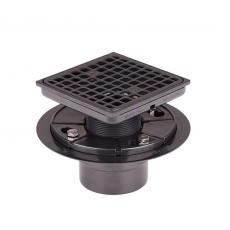 Xiamen Uni-Green Plastics Co., Ltd: Shower Floor Drain With Never Rust Drain Cover And ABS Drain Basket For Bathroom Kitchen - UGSD003-Matte Black