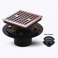 ABS Plastic Floor Drain With ABS Drain Strainer For Bathroom Free Shipping In US - UGSD003-Rose Gold