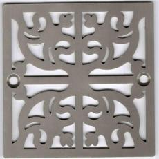 Xiamen Uni-Green Plastics Co., Ltd: 4 Inch Screw-in Shower Drain Cover Replacement Square Floor Drainer Grate - UGG2008